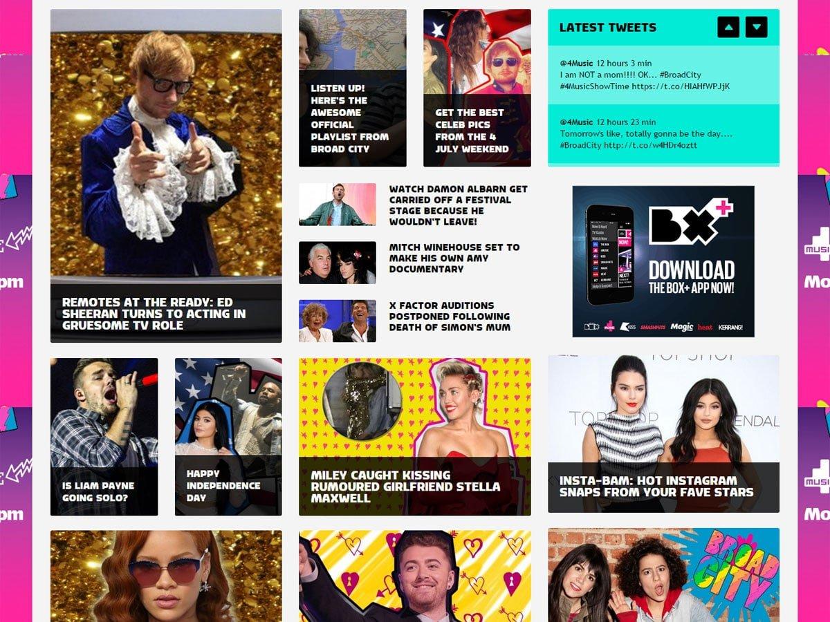 4Music website news landing page